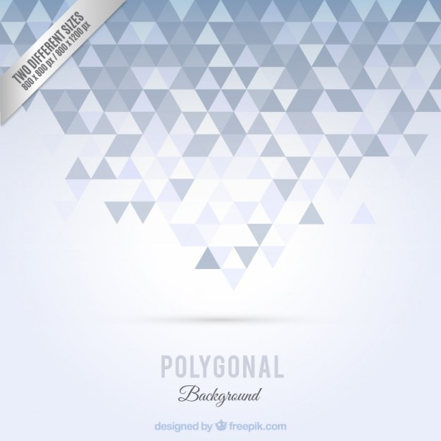 Polygonal background in grey tones Vector | Free Download