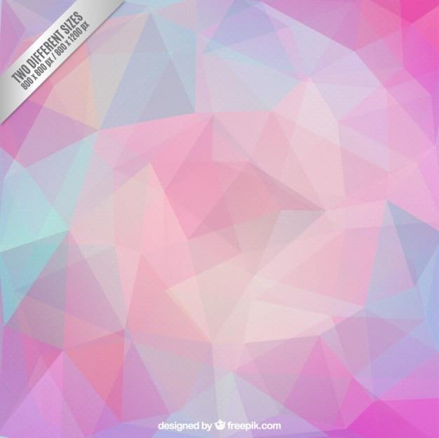 Polygonal background in pastel tones Premium Vector