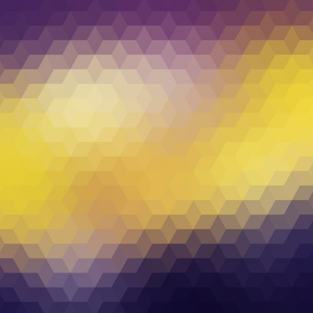 Purple Polygonal Abstract Background: Polygonal Background In Purple And Yellow Vector