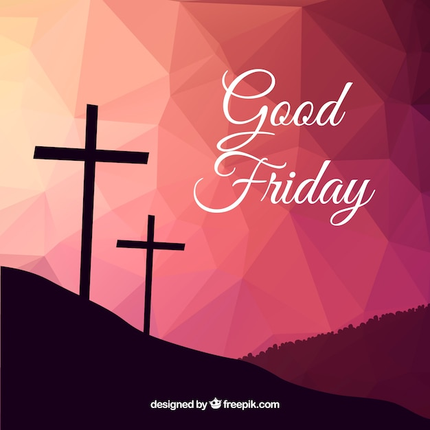 Polygonal background of Good Friday Free Vector