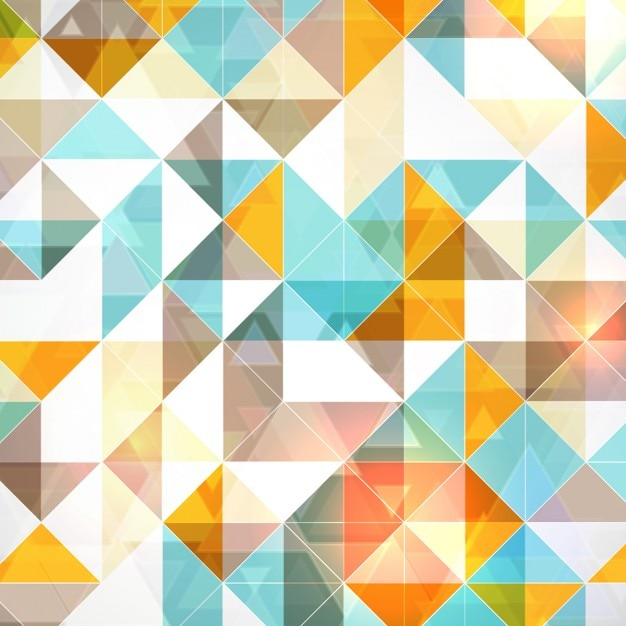 Polygonal Blue Orange Pattern Background |Orange And Blue Vector Background