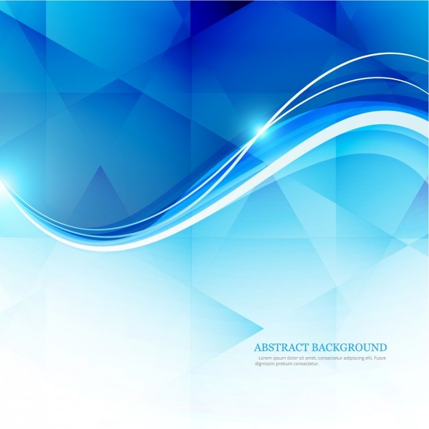 Polygonal background with shiny waves Free Vector