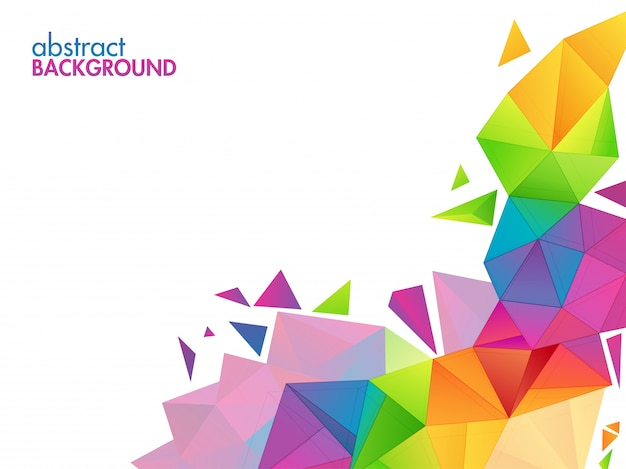 abstract polygonal colorful background - photo #40