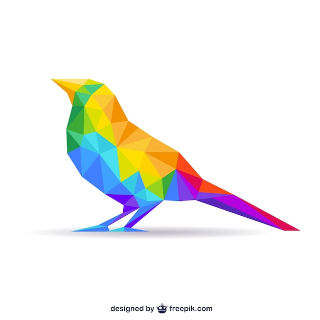 Polygonal bird Free Vector