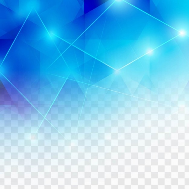 Polygonal blue background with lights Free Vector