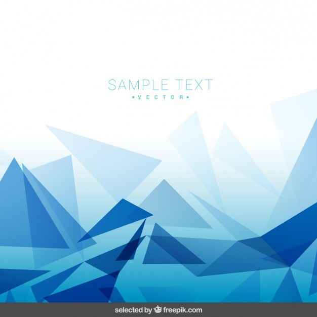Polygonal blue background Vector | Free Download