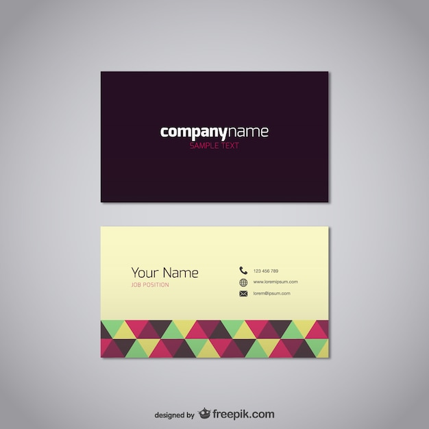 Polygonal business card vector free download polygonal business card free vector reheart Image collections
