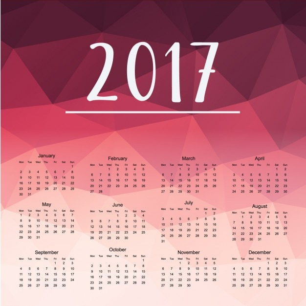 Calendar Design Freepik : Polygonal calendar design vector free download