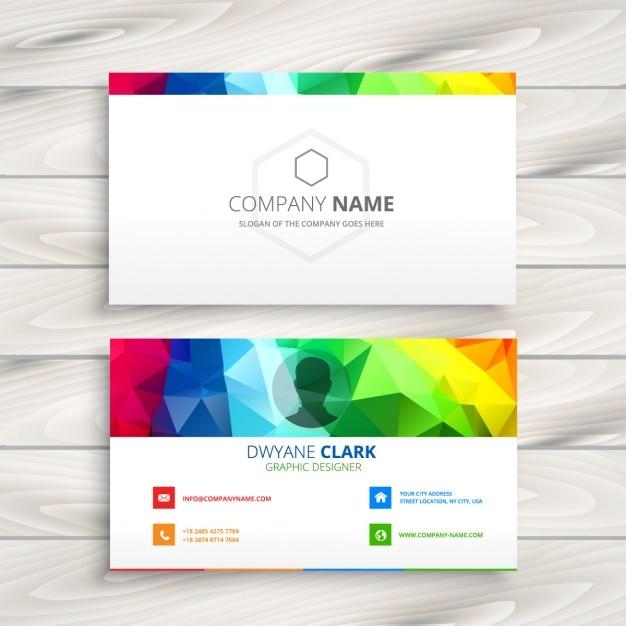 Polygonal colorful business card vector free download polygonal colorful business card free vector reheart Gallery