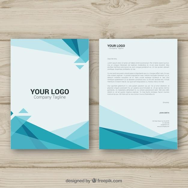 Полигональная корпоративная брошюра Бесплатные векторы