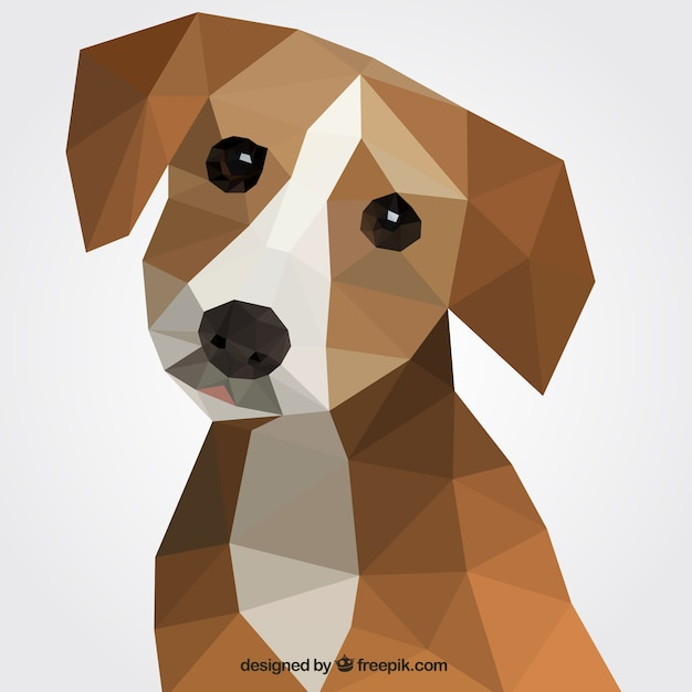 Polygonal dog Free Vector