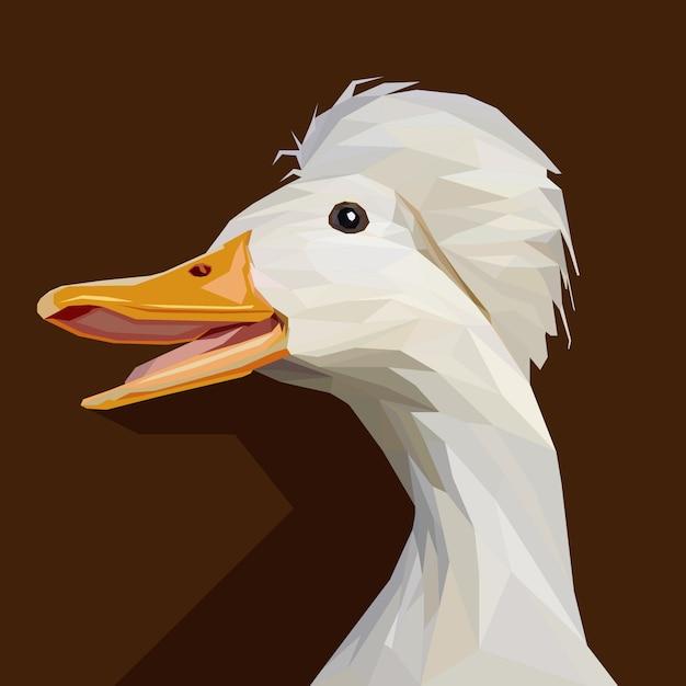 Polygonal geometric of goose vector illustration Premium Vector