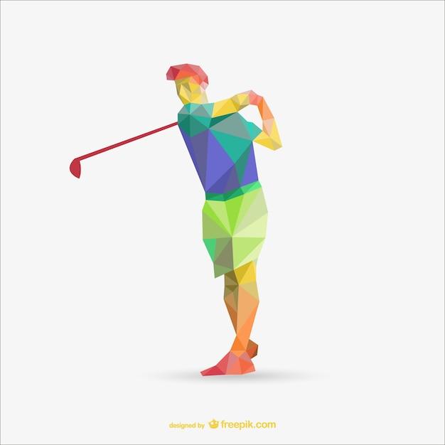 Polygonal golf player