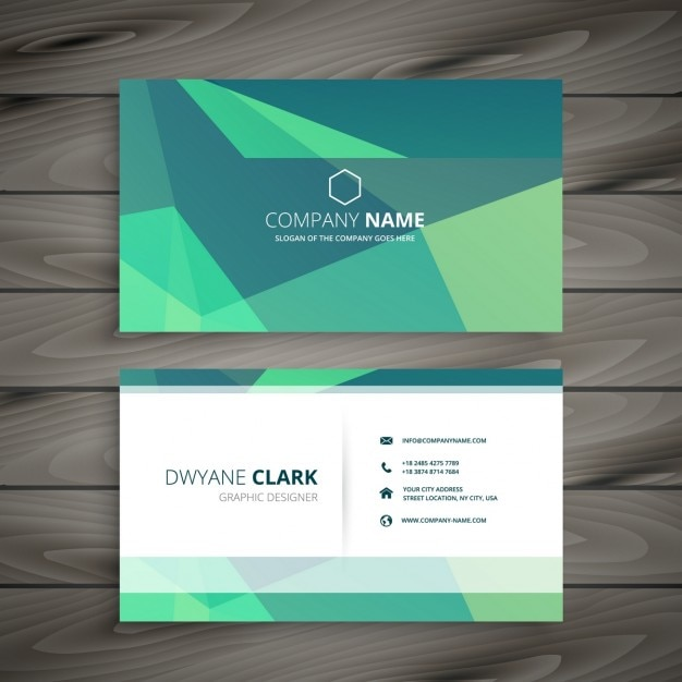 Polygonal green modern business card vector free download polygonal green modern business card free vector reheart Gallery