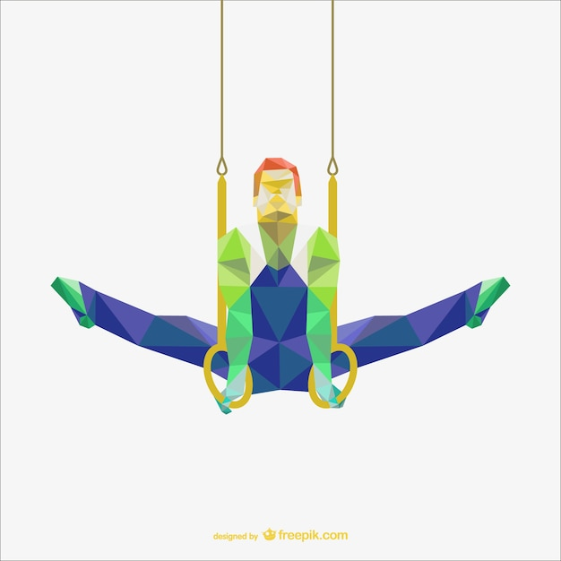 Polygonal gymnastic rings Free Vector