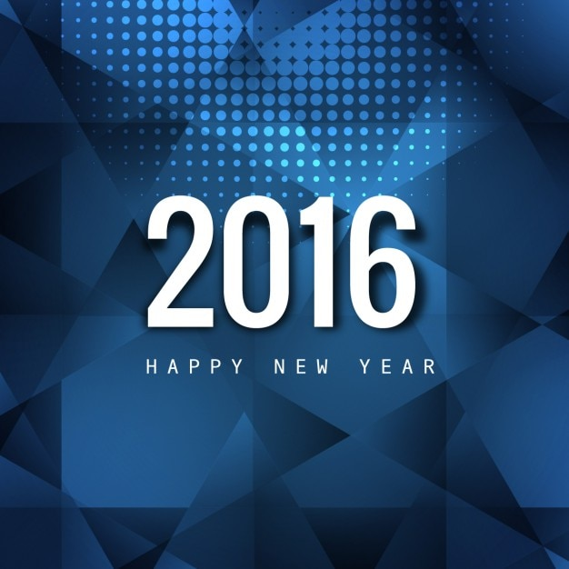 polygonal happy new year card free vector