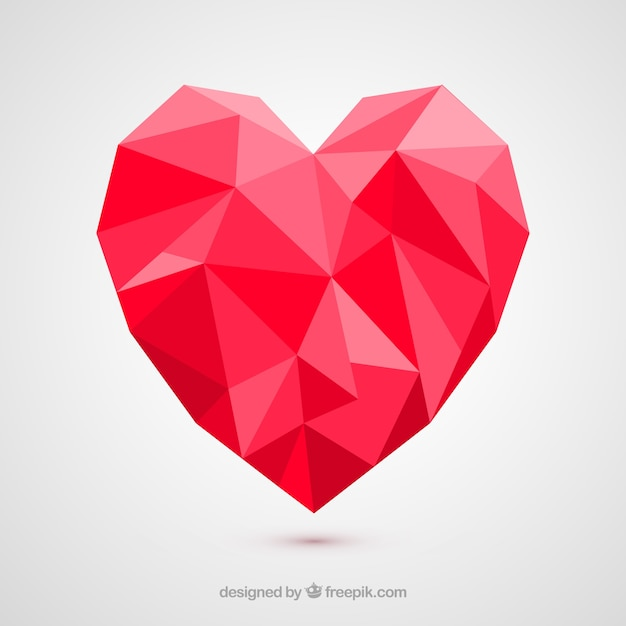 polygonal heart vector free download