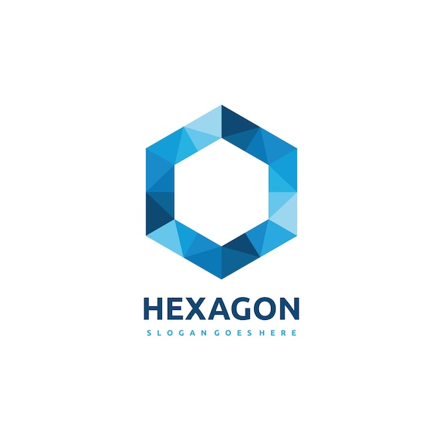 polygonal hexagon logo vector free download