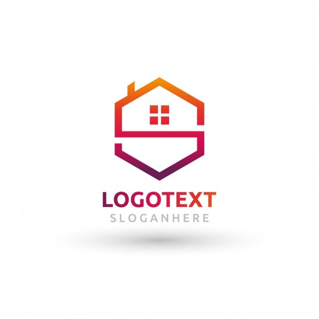 Polygonal house logo vector free download for House images free download
