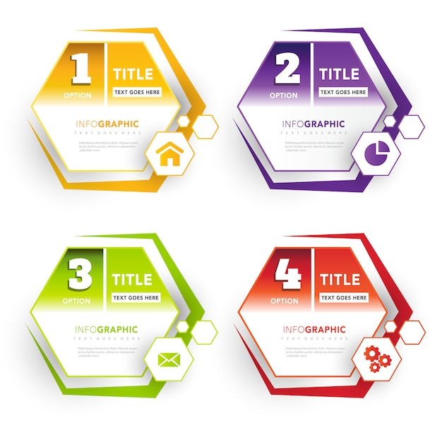 polygonal label optional banners Free Vector