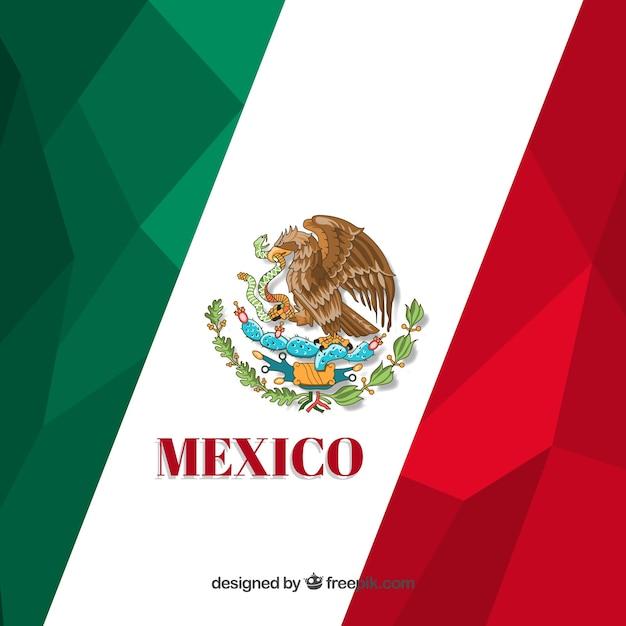 polygonal mexican flag design vector free download rh freepik com new mexico flag vector mexico flag vector free