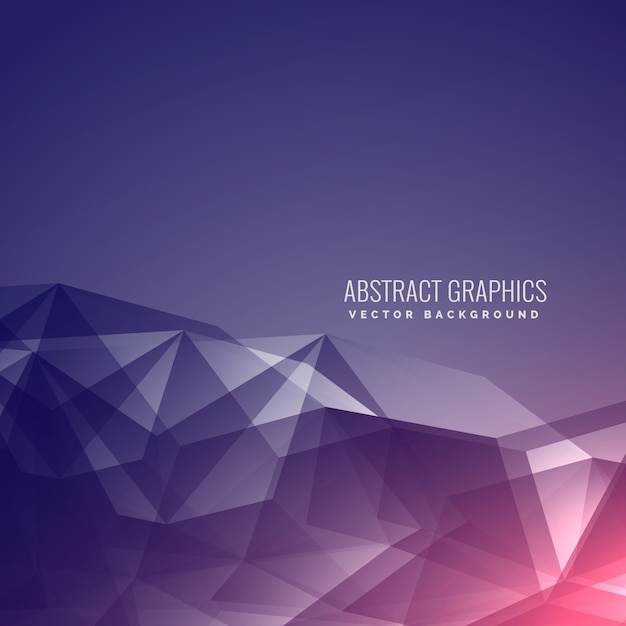 Purple Polygonal Abstract Background: Polygonal Modern Background In Purple Vector