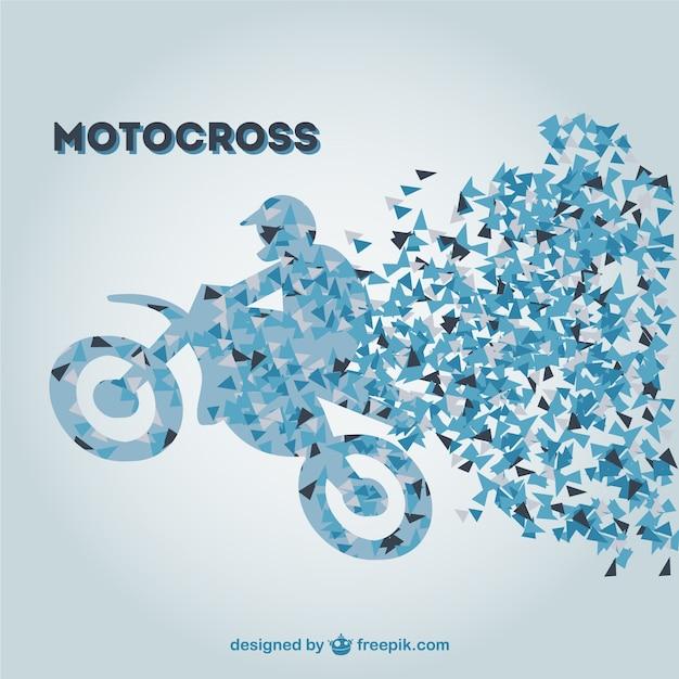 Polygonal motocross rider Free Vector