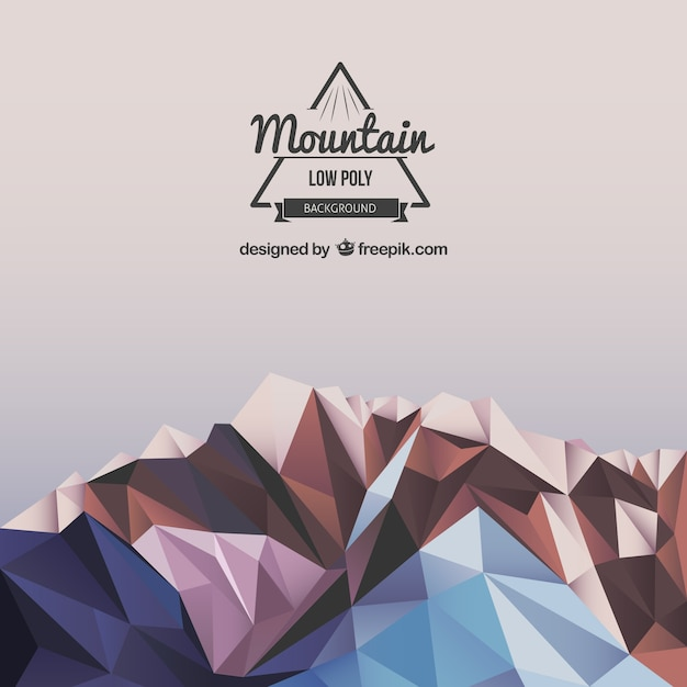 polygonal mountain background vector free download