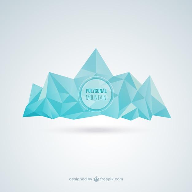 Polygonal mountain Free Vector
