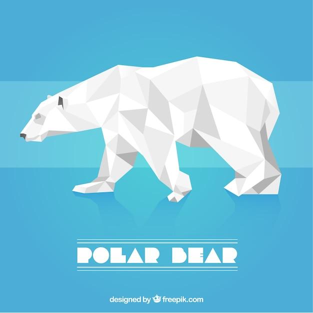 Polygonal polar bear Free Vector