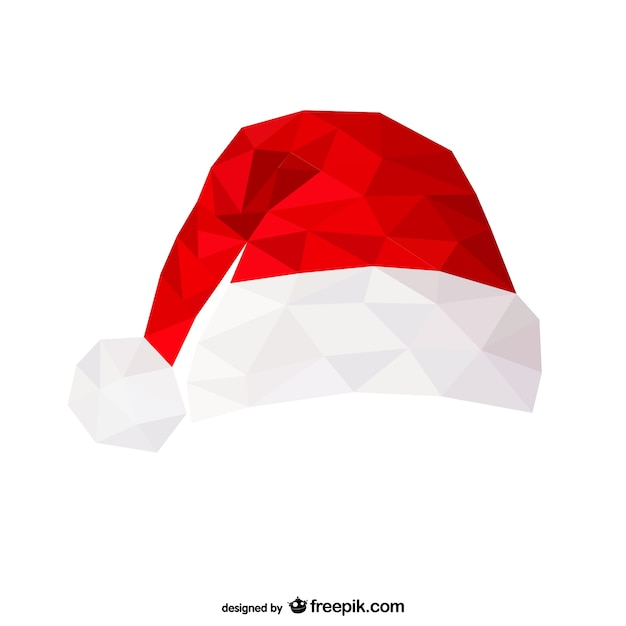 Polygonal santa claus hat vector free download