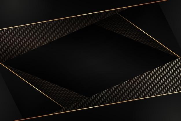 Polygonal shapes background in golden details Free Vector