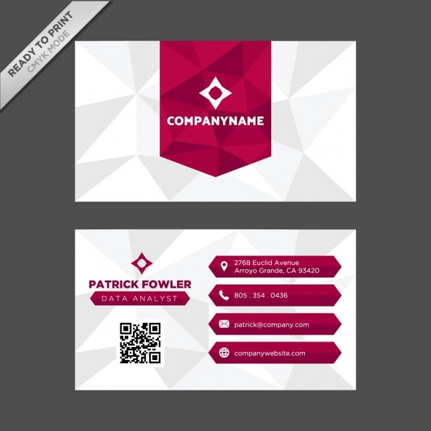 Polygonal shapes business card design Vector | Free Download