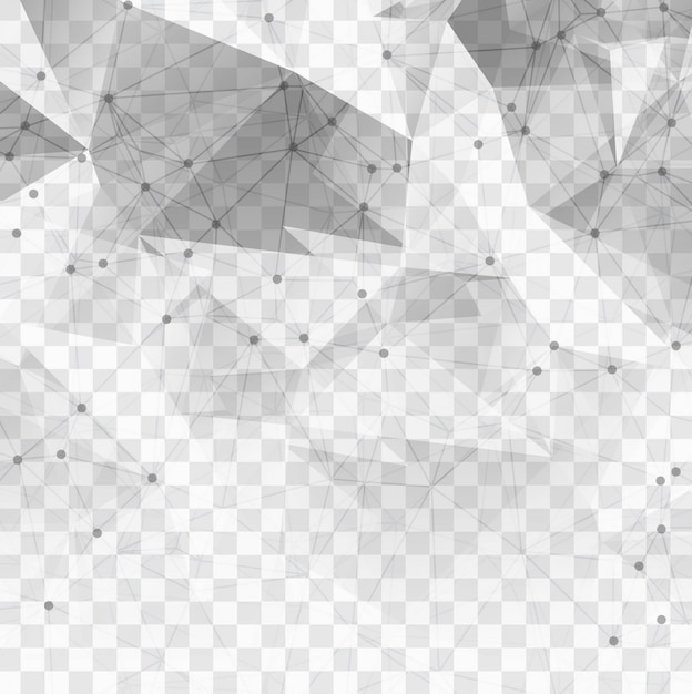 Polygonal technological elements on a transparent background Free Vector
