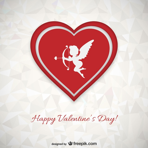 Polygonal Valentine\'s card