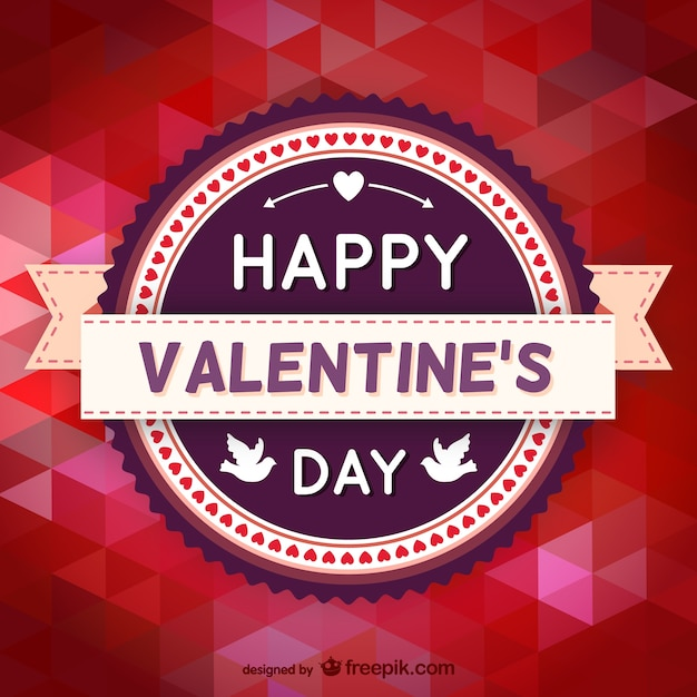 Polygonal Valentine\'s Day card