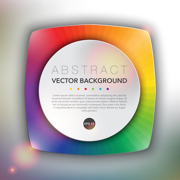 Polygonal web banner with spectrum color design. abstract vector surface. Premium Vector