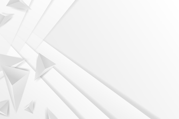Polygonal white shapes background in 3d paper style Free Vector