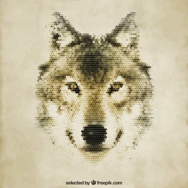 Polygonal wolf Free Vector