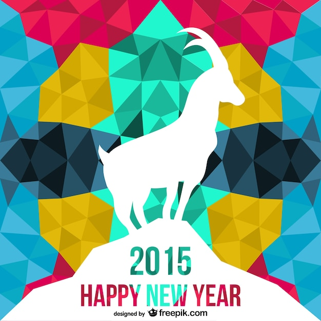 Polygonal year of the goat vector Free Vector