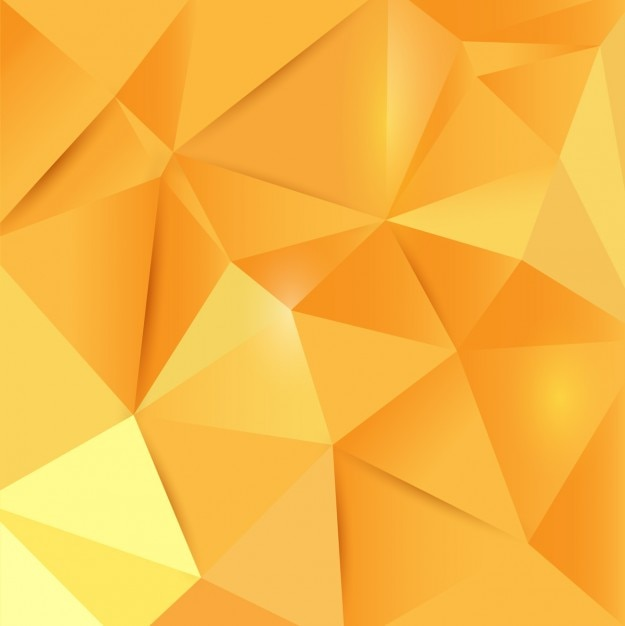 polygonal yellow background vector free download