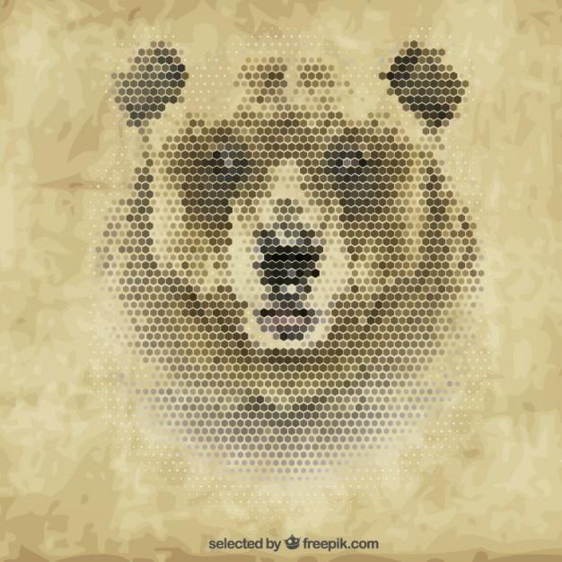Polygonal медведь Бесплатные векторы