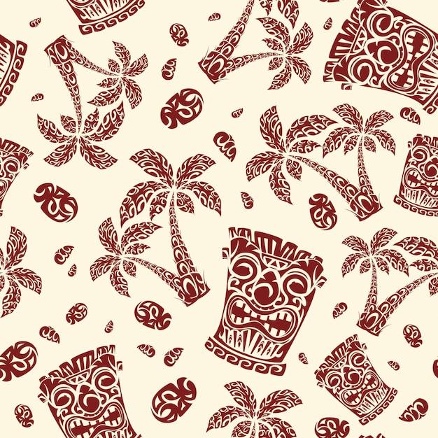 Polynesian exotic national patterns. Premium Vector