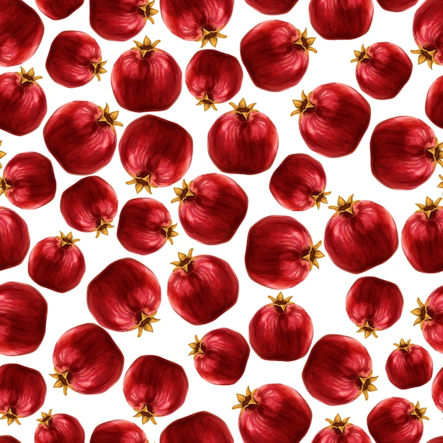 Pomegranate seamless pattern Free Vector
