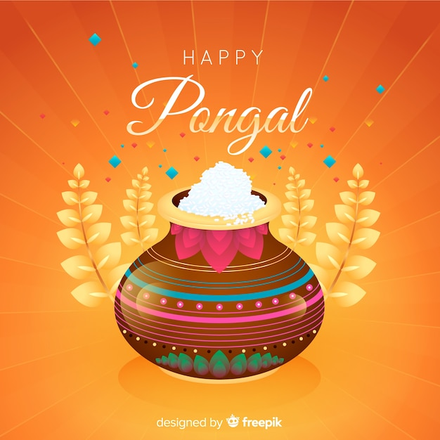 Pongal background Free Vector