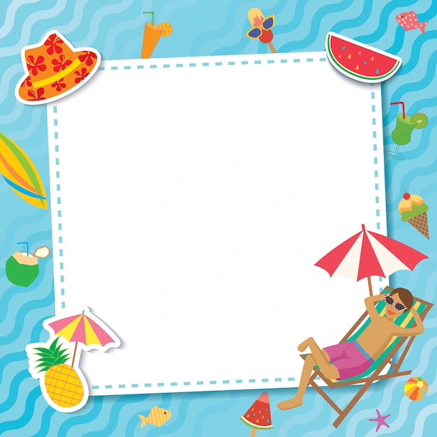 Pool Party Template Relax Vector Premium Download