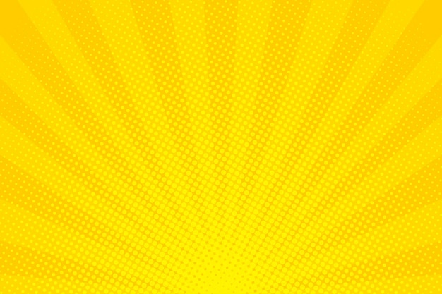 Pop art. background with dots. yellow comic background. cartoon funny retro pattern. vector illustration Premium Vector