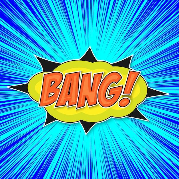 Pop art bomb bang Premium Vector