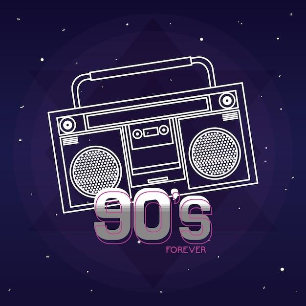 Pop art cartoon radio Premium Vector