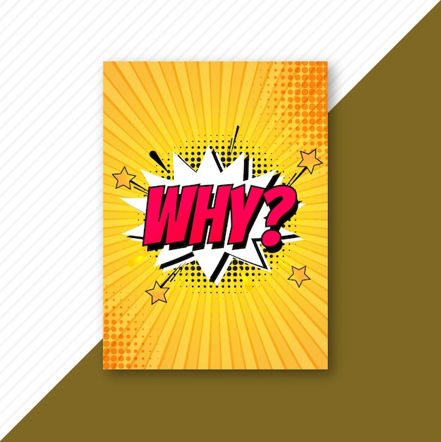 Pop art colorful comic brochure template vector Free Vector